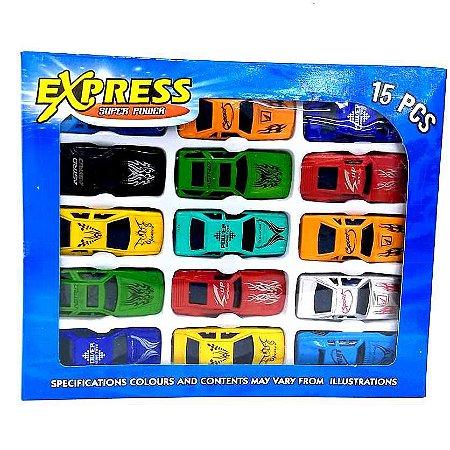 Carrinhos Miniaturas kit com 15 pecas AB7376