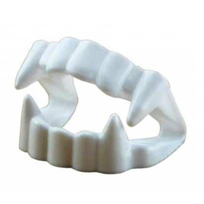 Dentes de Vampiro PACOTE COM 10 DENTADURAS - Jaragua toys ref.107