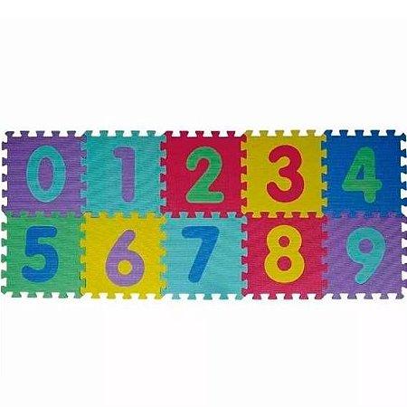 Quebra Cabeca Pedagogico  GRANDE 28 x 28 cm - EVA numeros e letras - Tapete Educativo EVA Puzzle Mat - BA17708