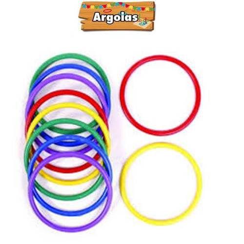 Jogo de Argolas com 10 cm - kit com 10 argolas - 057 - Jaragua Toys .