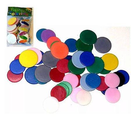 Fichas coloridas - poker e jogo de tabuleiro - kit com 50 fichas- Ref.001 - Baby Paco