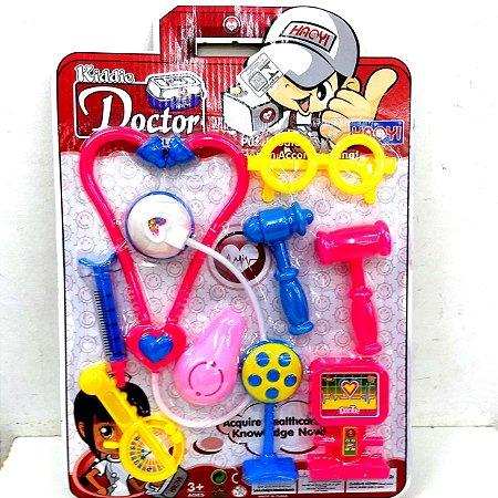 Kiddie Doctor - Kit Medico de Brinquedo - com estetoscopio e acessorios - BA19569