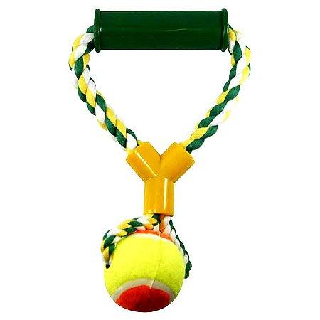 Mordedor com Bola para animais - VARIAS CORES - Brinquedo para cachorro e gato - Pet10 WESTERN