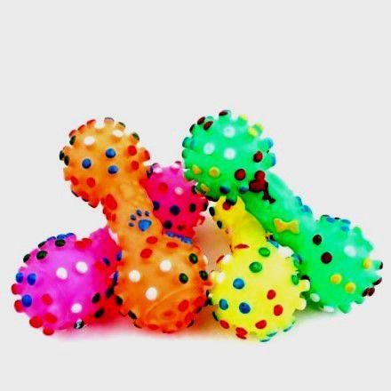 Brinquedo para cachorros - Mordedor PET modelo Halteres- cores sortidas - Western PET-6