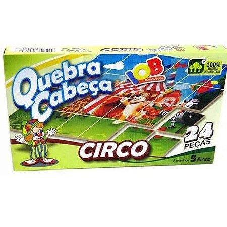 Jogo Pedagogico Brinquedo Educativo IOB Madeira - Quebra Cabeca CIRCO - Ref.003