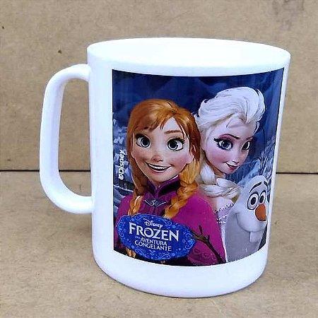 Caneca Frozen Aventura Congelante Disney - Plastica 400 ml - 441649 Plasduran