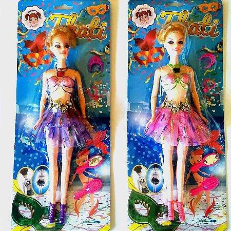 Boneca Bailarina a Corda que Danca de Verdade - THATI - com acessorios - GRANDE 30 cm - Ref.17010
