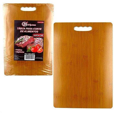 Tabua de madeira para Corte de Alimentos - madeira MDF - 34x24 cm - Ref.SQ3964