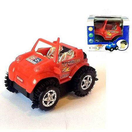 Carrinho Cambalhota com 10 cm - Carrinho a friccao - Jeep Cambalhota - SQ3069 - Grupo SQ