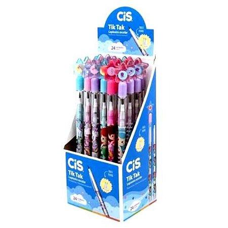 Lapiseira Escolar TIK TAK Troca Ponta - com borracha - caixa com 24 lapiseiras - Ref. 9056 - CIS