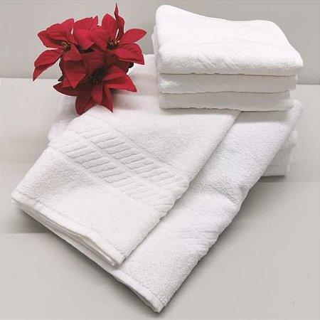 Toalha de Rosto Branca LIsa linha PROFISSIONAL - HOTELARIA 405 gr/m2 - RUBI DMATOS