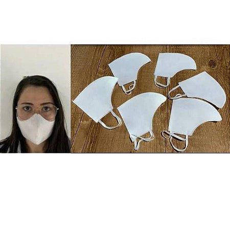 Mascara Protetora Descartavel de TNT 40 duplo  com elástico PACOTE COM 10 - Ref. 5649-40