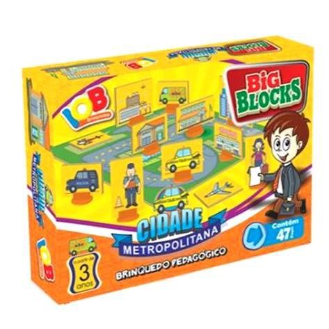 Jogo Pedagogico Brinquedo Educativo - Big Blocks CIDADE METROPOLITANA - IOB Madeira Ref.13