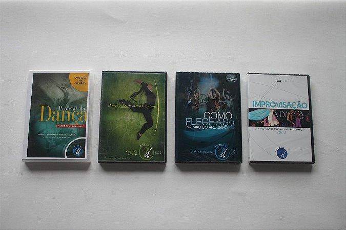 KIT DVDS VÍDEO AULA PROFETAS DA DANÇA