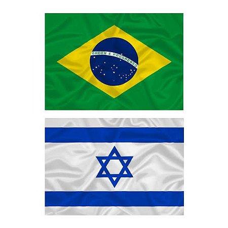 KIT LENÇO PARA MINISTRAÇÃO - BRASIL + ISRAEL