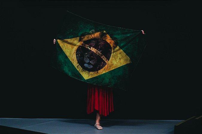 BANDEIRA PARA MINISTRAÇÃO - LEÃO BRASIL 100x140cm