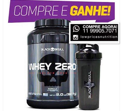 Whey Zero 907 g + Coqueteleira - Black Skull - Low Prices Nutrition faff9f333bb21