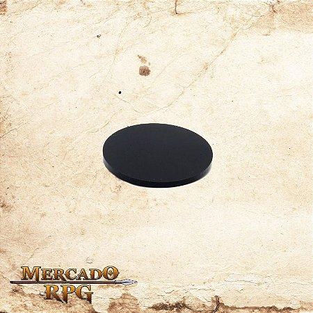 Base redonda em acrílico preta 50mm