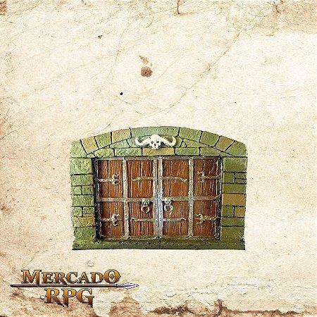 Porta Dupla de Madeira