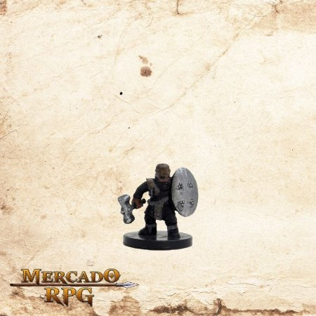 Gold Dwarf Soldier - Com carta