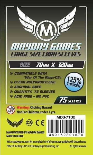 Sleeves Mayday Large Card Sleeves (70x120mm) - Premium Protection (Com 75 Protetores de cartas)