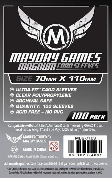 """Sleeves Mayday""""Lost Cities"""" Card Sleeves - Magnum Ultra-Fit (70x110mm) - Standard Protection (Com 100 protetores de cartas)"""