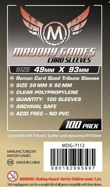 Sleeves Mayday Tribune Card Sleeves (49x93mm) - Standard Protection ( Com 100 protetores de cartas)