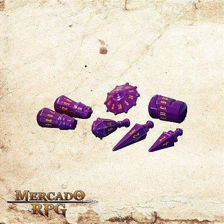 Poly Hero Dice - Vorpal Purple & Amber