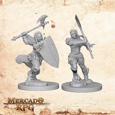 Half-Orc Female Barbarian