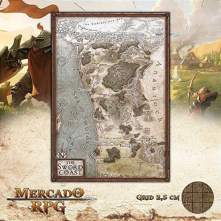Mapa costa da espada
