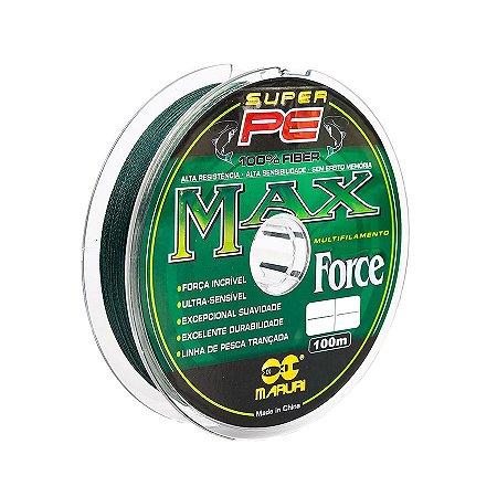 Linha Multifilamento Maruri Super PE Max Force 0.14mm 18lb 8,32kg 100m
