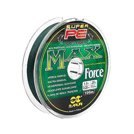Linha Multifilamento Maruri Super PE Max Force 0.20mm 25lb 11,4kg 100m