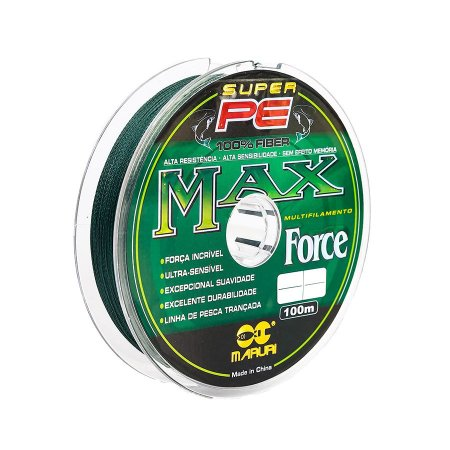 Linha Multifilamento Maruri Super PE Max Force 0.35mm 48lb 21,8kg 100m