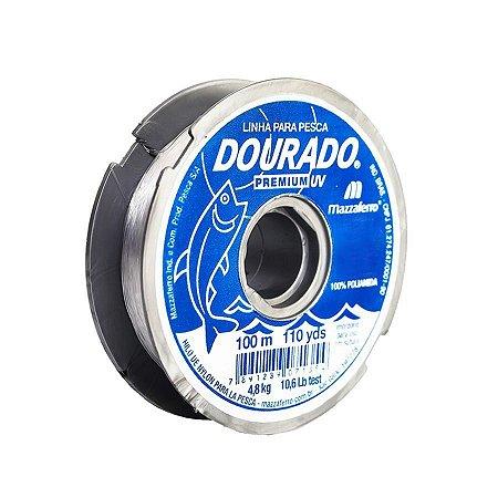 Linha Monofilamento Mazzaferro Dourado Premium 0.35mm 13,2lb 6kg 100m