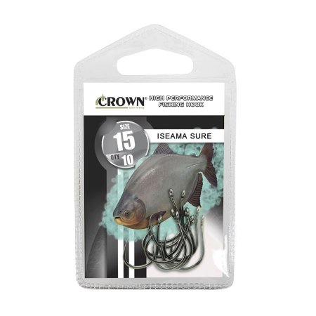 Anzol Crown Iseama Sure Black Sem Farpa