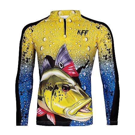 Camiseta de Pesca King KFF60 Tucunaré Proteção Solar UV 50+