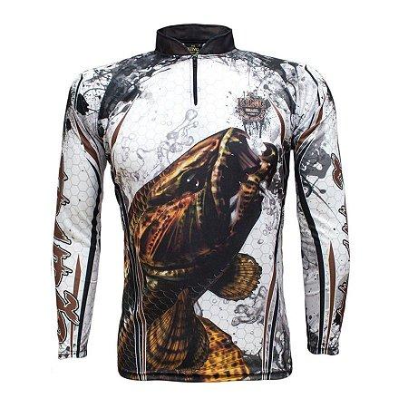 Camiseta de Pesca King KFF300 Trairão Proteção Solar UV 50+