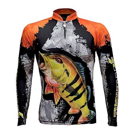 Camiseta de Pesca King KFF600 Tucunaré Proteção Solar UV 50+