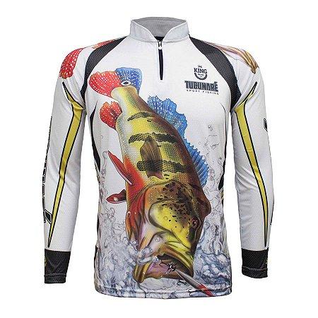 Camiseta de Pesca King KFF302 Tucunaré Proteção Solar UV 50+