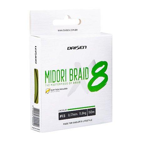 Linha Multifilamento Daisen Midori Braid X8 0.15mm 9,9kg 150m