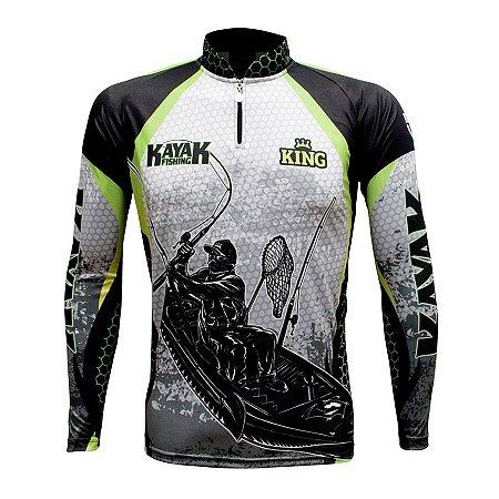 Camiseta de Pesca King KFF616 Kayak Proteção Solar UV 50+