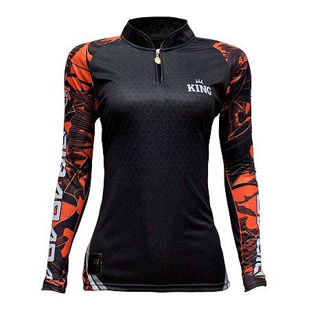 Camiseta de Pesca King KFF601 Pirarara Proteção Solar UV 50+