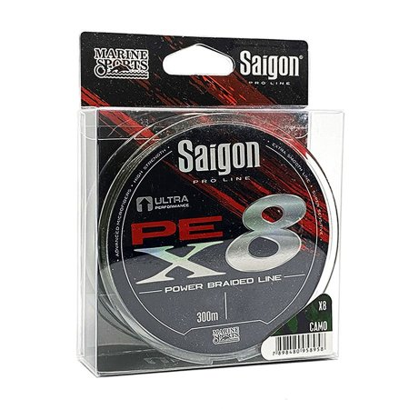 Linha Multifilamento Marine Saigon X8 Camouflaged 0.25mm 35lb 15,8kg 300m