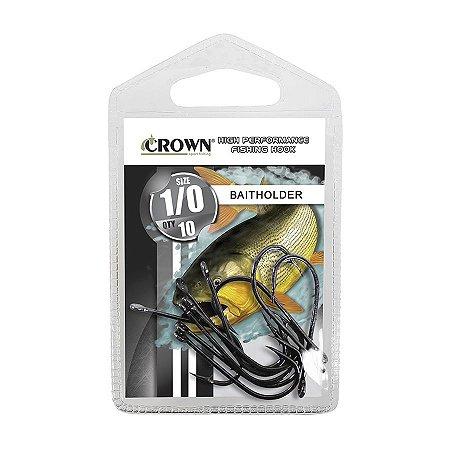 Anzol Crown Baitholder Black para Dourado