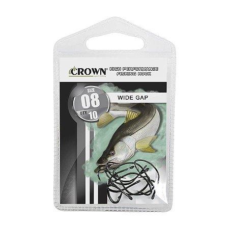 Anzol Crown Wide Gap Black para Robalo
