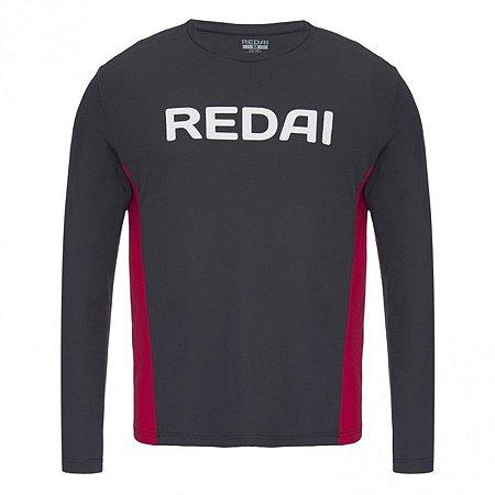 Camiseta de Pesca Redai Perfomance Team Cinza