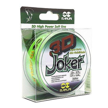 Linha Soft Maruri Joker 3D 0.18mm 6,37lb 2,89kg 300m