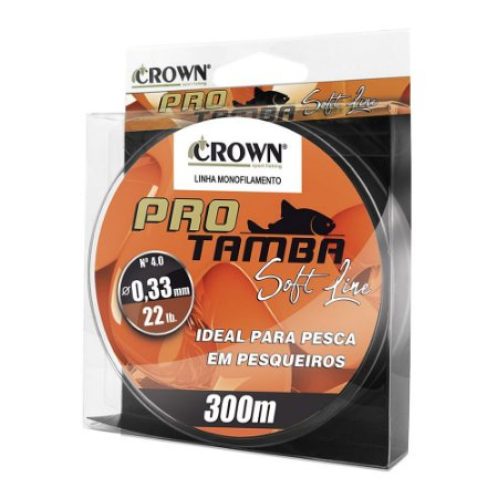Linha Soft Pro Tamba Crown 0.33mm 22lb 300m Laranja
