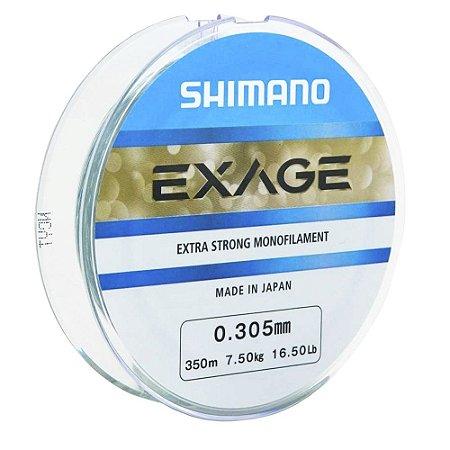 Linha Monofilamento Shimano Exage 0.30mm 16,5lb 7,5kg 300m