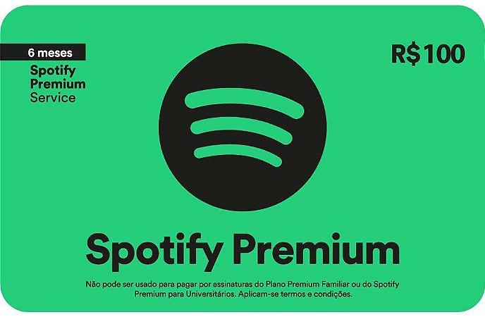 Spotify Premium - Cartão-Presente: 6 meses